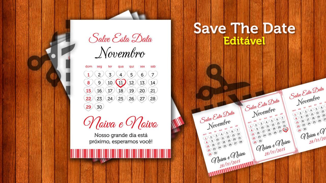 save the date  casamento  - fa u00e7a voc u00ea mesma