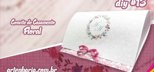 convite de casamento floral