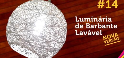 Luminária de Barbante Lavável