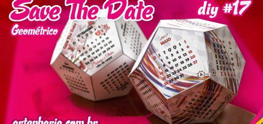 Save The Date (Calendário Geométrico) - Artenharia